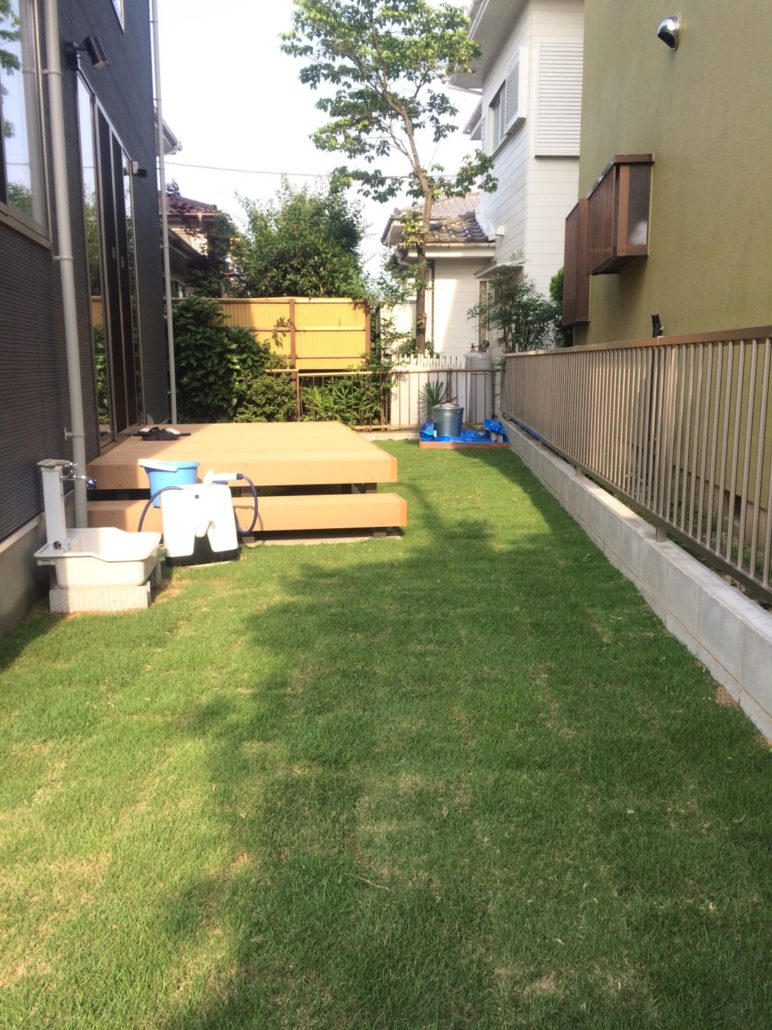 新築住宅のお庭の芝張り | 春日部市 植木屋
