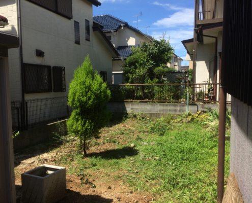 空き家 庭 お手入れ 伐採後 春日部市 さいたま市
