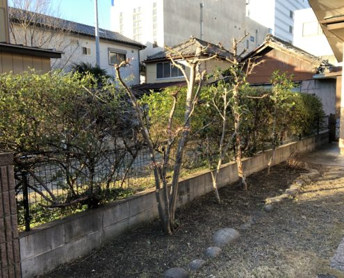 お庭 空き家 物件 一戸建て お手入れ 剪定 伐採 除草 作業後 さいたま市 春日部市