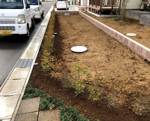 生垣作成 ドウダンツツジ 植樹 植栽 さいたま市 春日部市 金子造園