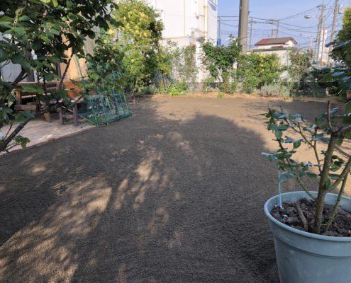 芝張り 床土 整地 お庭造り 春日部市 植木屋