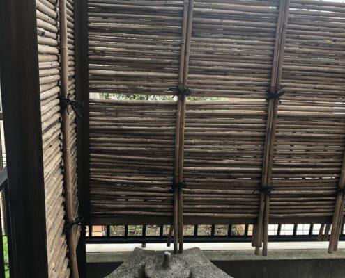 竹垣 煤竹 交換 作り直し 業者 植木屋  施工前