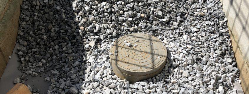 砂利敷き 雑草対策 防草シート敷き 植木屋 植木職人 お庭のお手入れ