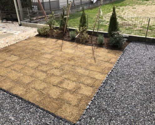 移植 芝張り 砂利敷き 防草シート施工 造園工事 エクステリア工事 施工後